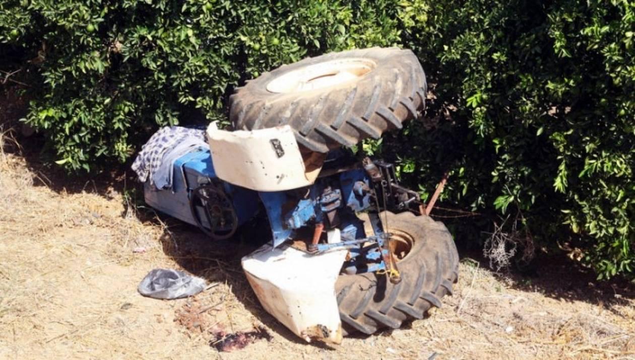 Ημαθία: Τρακτέρ καταπλάκωσε αγρότη - Σώος ο οδηγός (pics&vid)