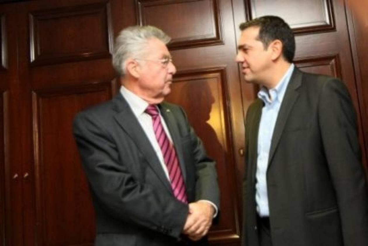 Συνάντηση Τσίπρα με τον Πρόεδρο της Αυστρίας, Χάινς Φίσερ