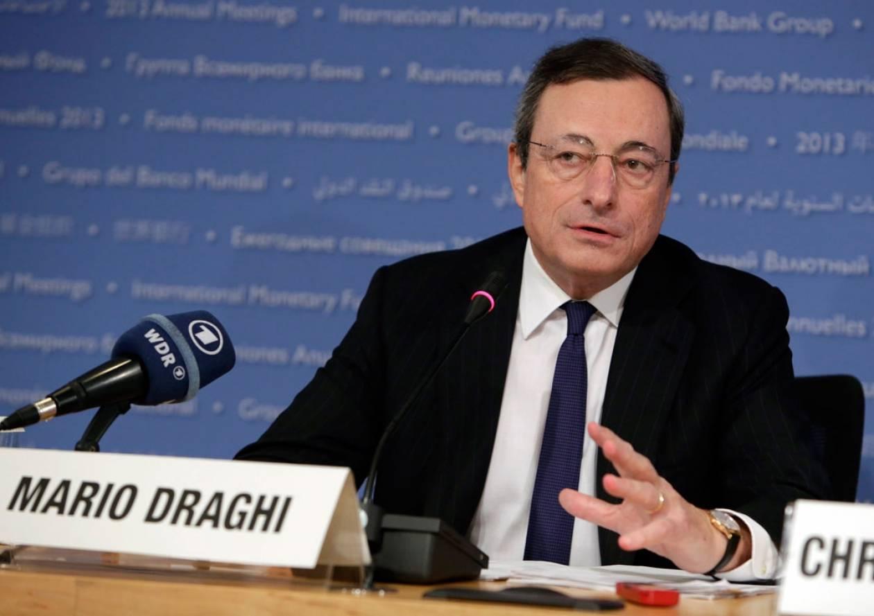 Να αποφύγουν επιστροφή στην ύφεση ζητεί ο Ντράγκι από τους Ευρωπαίους ηγέτες