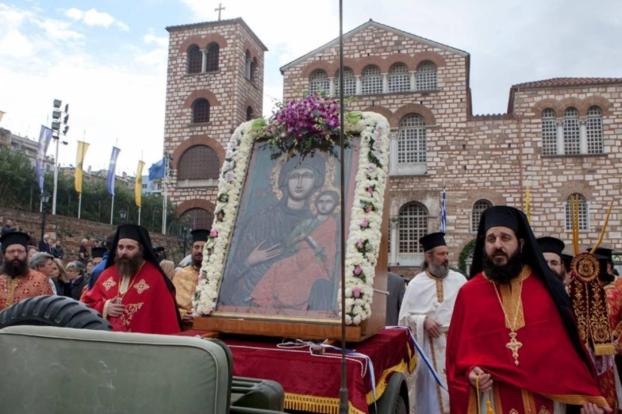 Θεσσαλονίκη: Λιτανεία της εικόνας του Αγίου Δημητρίου