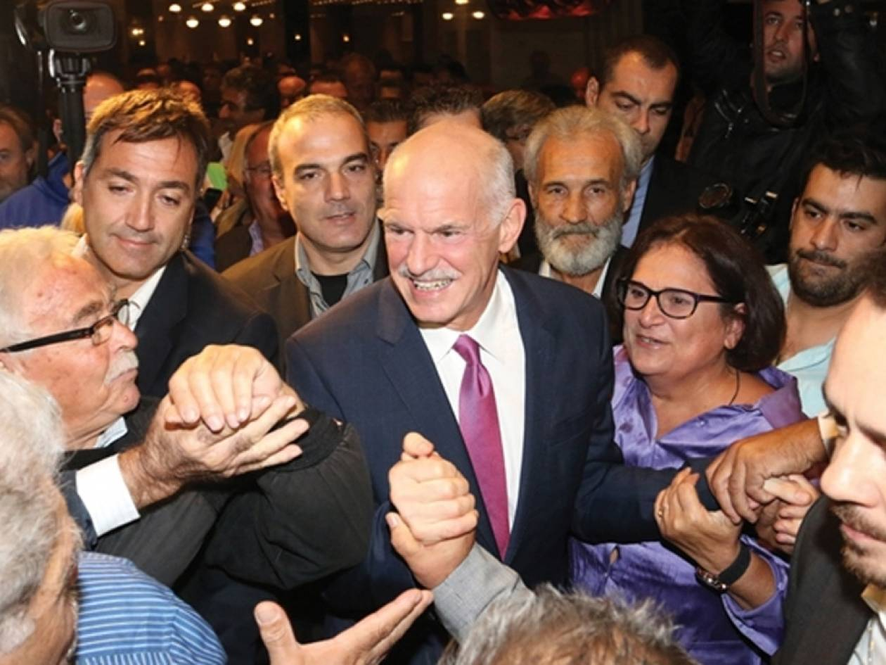 Γ. Παπανδρέου: Είμαι εδώ, με καλεί ο δρόμος των αξιών
