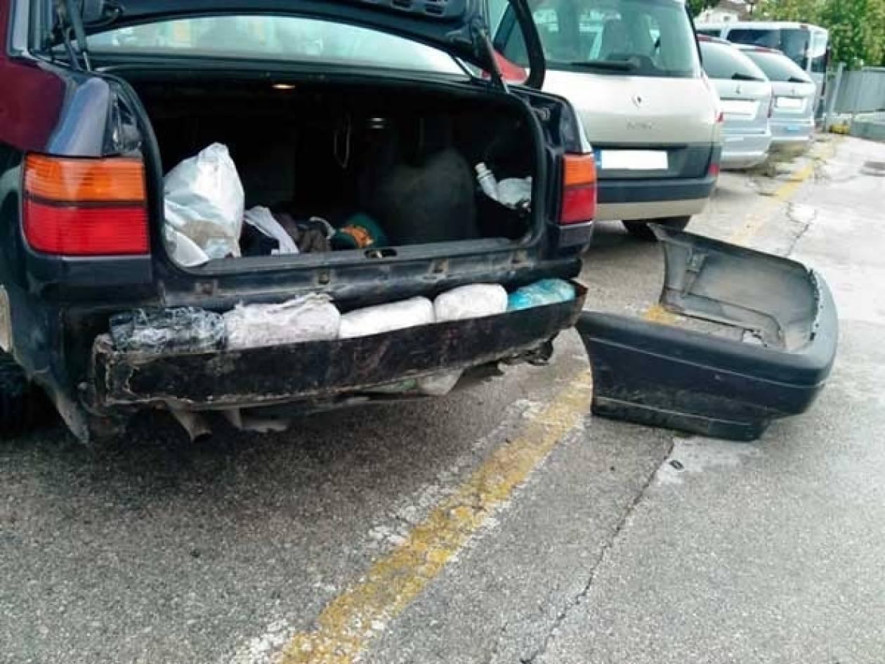 Ηγουμενίτσα: Έκρυβε 10 κιλά χασίς στον προφυλακτήρα του αυτοκινήτου