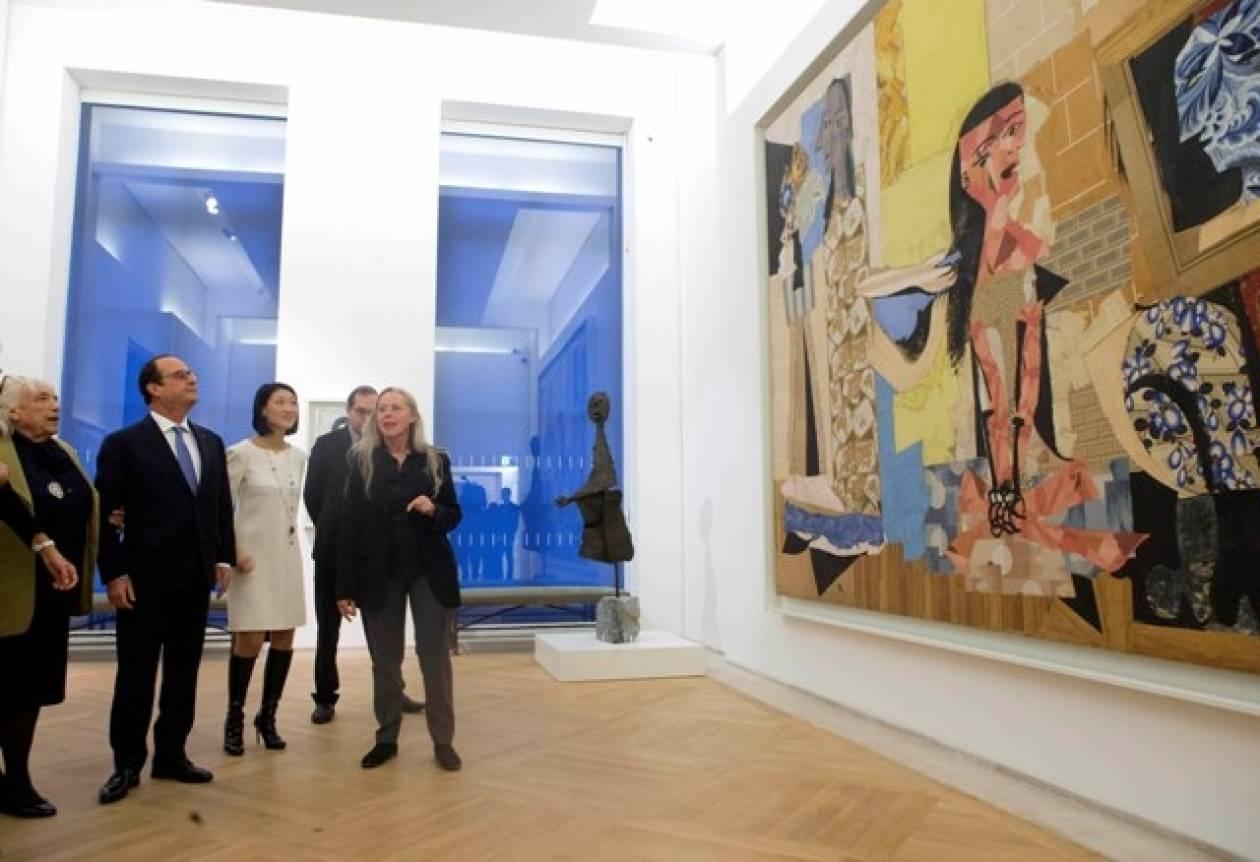 Παρίσι: Ο Φρανσουά Ολάντ στα εγκαίνια του μουσείου Πικάσο