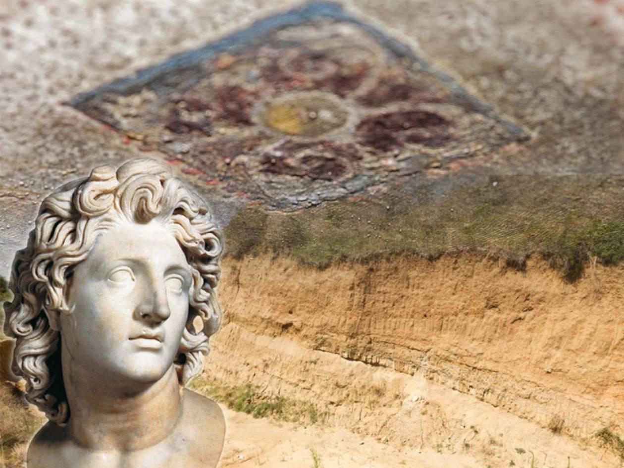 Αμφίπολη: Μια «ανάσα» από το αρχαίο δάπεδο του τρίτου θαλάμου