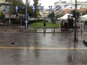 Ματαιώθηκε λόγω κακοκαιρίας και η παρέλαση στο Ρέθυμνο