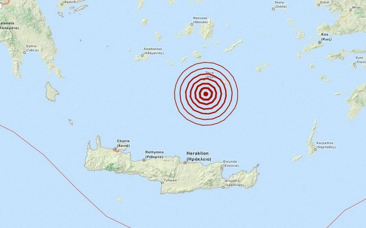 Σεισμός 3,2 Ρίχτερ νότια της Σαντορίνης