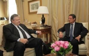 Συνάντηση Βενιζέλου - Αναστασιάδη στην Κύπρο