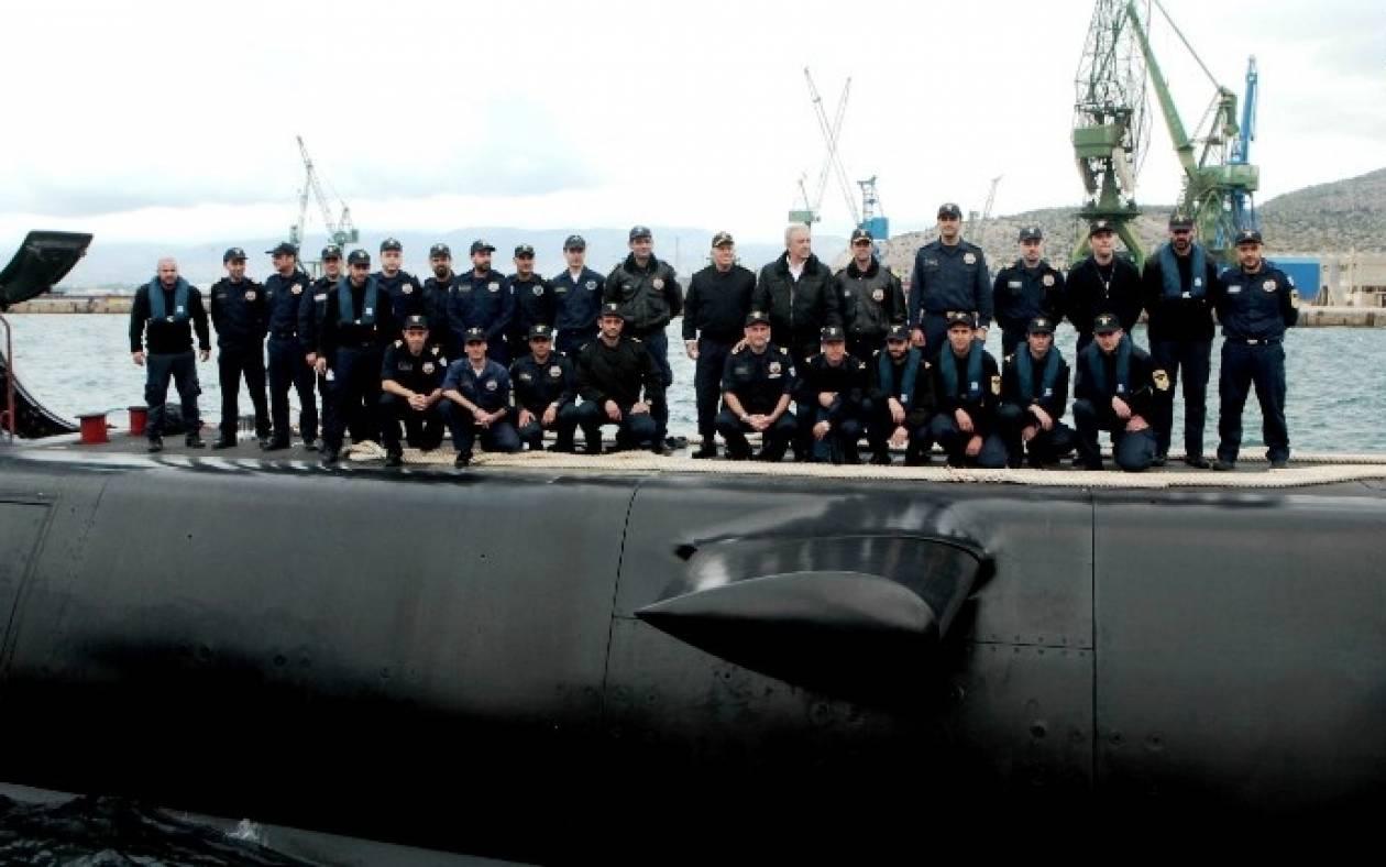 Δοκιμαστικό του υποβρυχίου «Πιπίνος» παρουσία Αβραμόπουλου