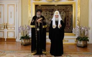 Ο Κύριλλος υποδέχτηκε τον Πατριάρχη των Κοπτών