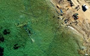 Στο «φως» οι αρχαίες προβλήτες στο Λέχαιο