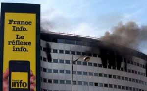Παρίσι: Σοβαρές υλικές ζημιές  από την πυρκαγιά στο κτίριο του κρατικού ραδιοφώνου