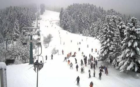 Σε λειτουργία τέθηκε το χιονοδρομικό κέντρο στα Χάνια Πηλίου