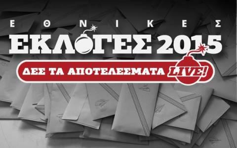 Αποτελέσματα εκλογών 2015 στο 55,96 της Επικράτειας