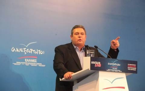 Αποτελέσματα εκλογών 2015-Π. Καμμένος: Δεν μετέχουμε σε κυβέρνηση με το «Ποτάμι»