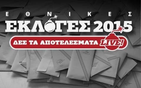 Αποτελέσματα εκλογών 2015 στο 84,06% της εκλογικής περιφέρειας Αχαΐας