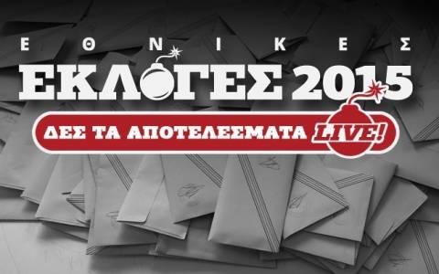 Αποτελέσματα εκλογών 2015: Τα τελικά αποτελέσματα στην εκλογική περιφέρεια Καστοριάς
