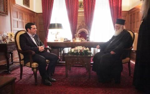 Τσίπρας προς Ιερώνυμο: Οι σχέσεις Πολιτείας και Εκκλησίας θα είναι πιο ουσιαστικές