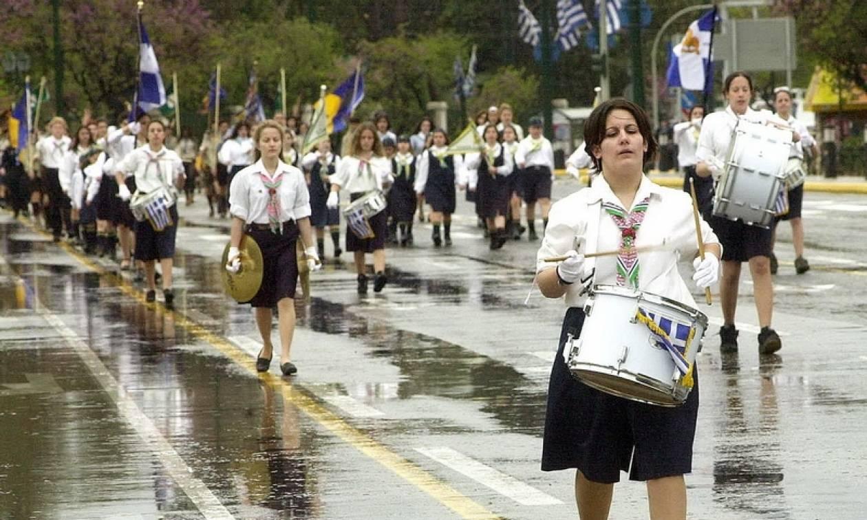 Με βροχές και καταιγίδες οι εορτασμοί για την 25η Μαρτίου