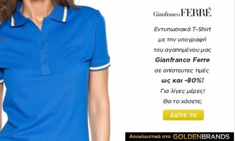 Τ-Shirt και μπλούζες για γυναίκες και άντρες με την υπογραφή του Gianfranco Ferre με έκπτωση έως 80%