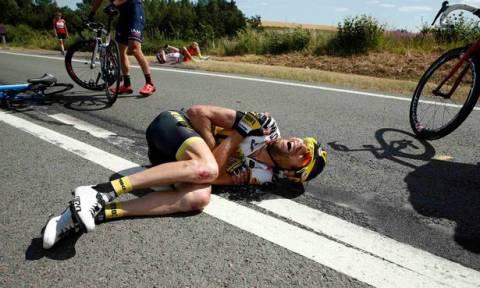 Τρομακτικό ατύχημα στον Ποδηλατικό Γύρο της Γαλλίας (video+photos)