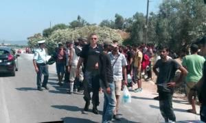 Μυτιλήνη: Ξεσηκώθηκαν οι μετανάστες για τις συνθήκες διαβίωσης στο νησί