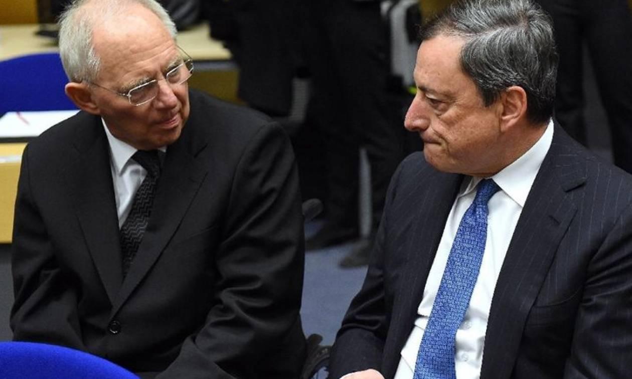Eurogroup: Άγριος καβγάς Ντράγκι-Σόιμπλε η αιτία της διακοπής!