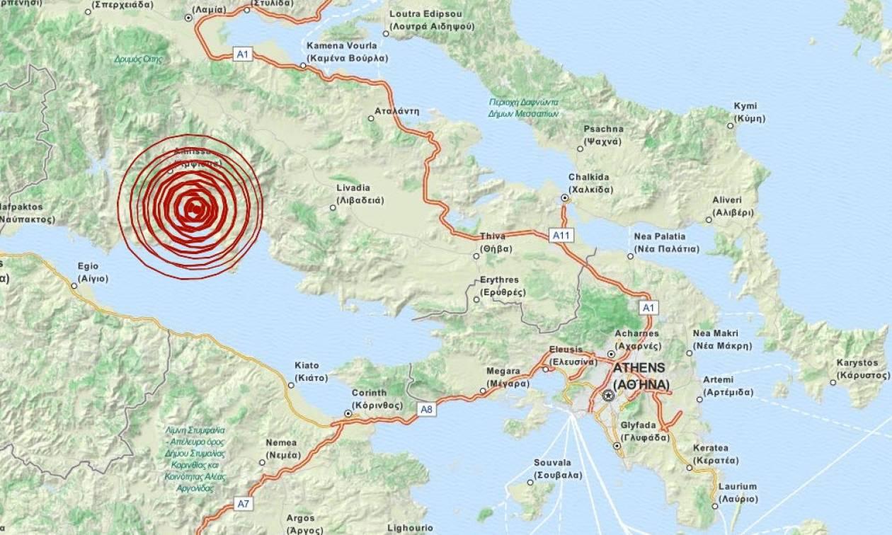 Διπλός σεισμός κοντά στην Ιτέα