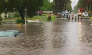 Η πλημμυρισμένη Νότια Καρολίνα από τα «μάτια» ενός drone (video)