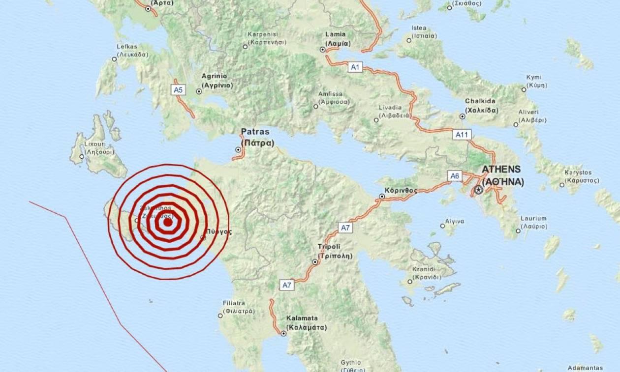 Σεισμός 3,6 Ρίχτερ νότια της Κυλλήνης