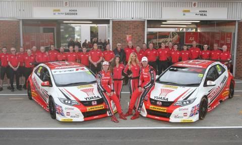 Honda: Η ομάδα Yuasa Racing πρωταθλήτρια του B.T.C.C.