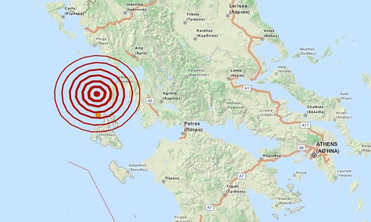 Σεισμός τώρα: 4,9 Ρίχτερ μεταξύ Κεφαλονιάς και Λευκάδας (pic)