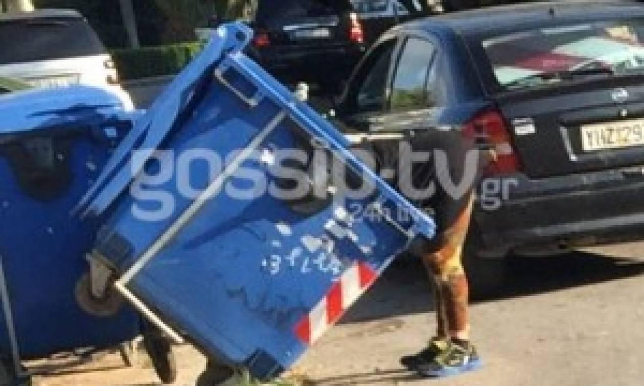 Ελληνίδα τηλεπερσόνα ψάχνει τώρα στα σκουπίδια