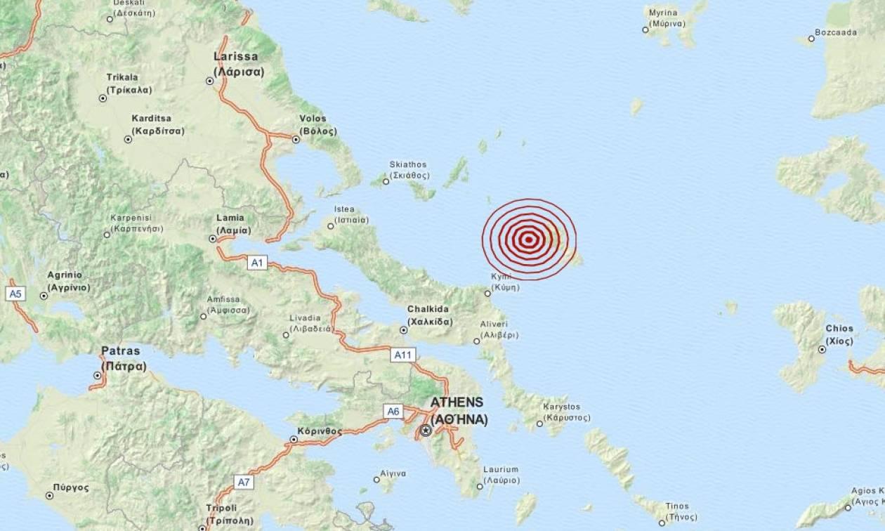 Σεισμός τώρα: 3,5 Ρίχτερ στη Σκύρο