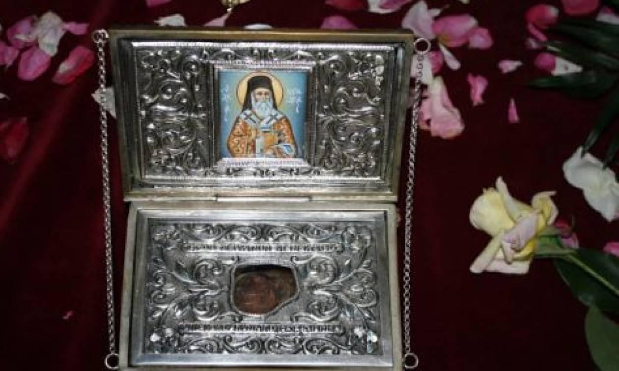 Ιερό λείψανο του Αγίου Νεκταρίου στην Πάλαιρο