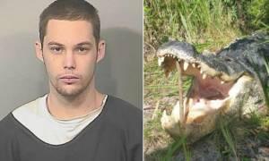 Προσπάθησε να ξεφύγει από την αστυνομία και τον έφαγε αλιγάτορας! (video)