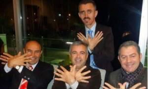 Πρόκληση: Τούρκοι και Αλβανοί αξιωματούχοι σχηματίζουν τον αετό της «Μεγάλης Αλβανίας»
