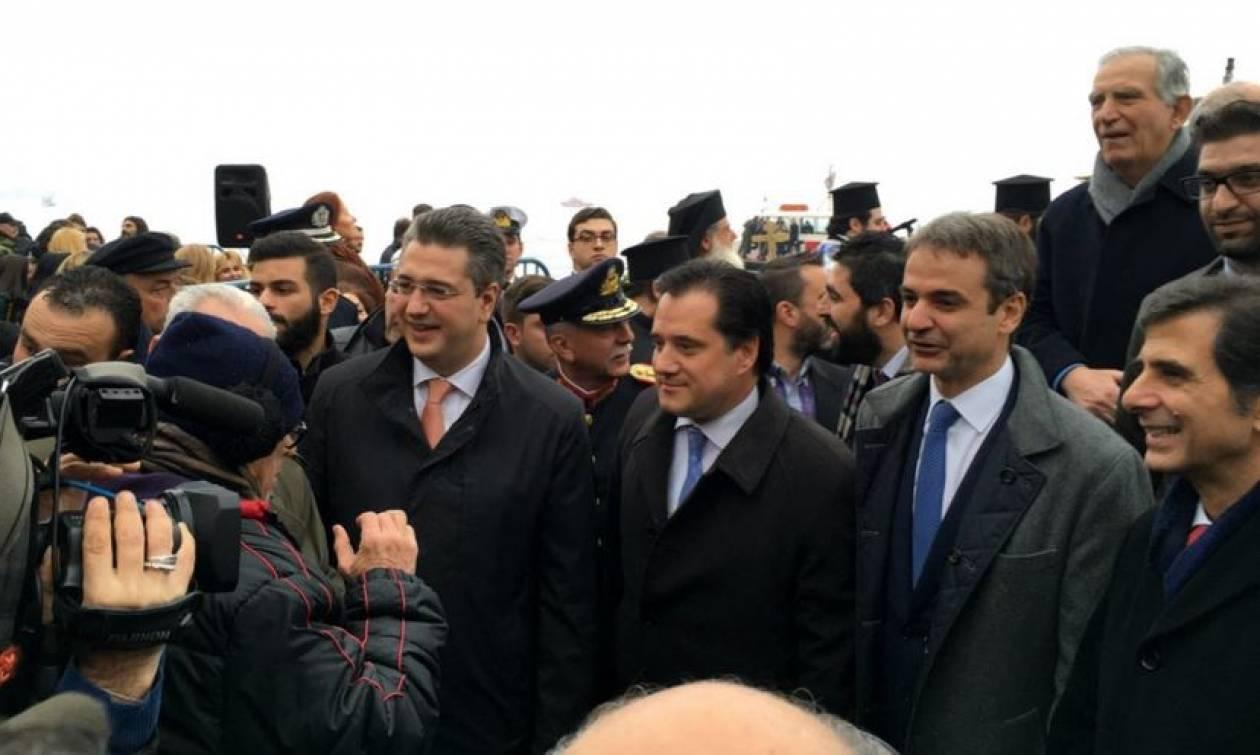 Εκλογές ΝΔ 2ος γύρος: Μητσοτάκης, Τζιτζικώστας και Γεωργιάδης μαζί στη Θεσσαλονίκη