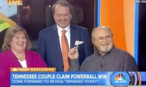 ΗΠΑ: Δείτε το ζευγάρι που αγόρασε τον έναν από τους τρεις υπερτυχερούς λαχνούς του Powerball (video)