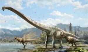 Γιγάντιος δεινόσαυρος εκτίθεται για πρώτη φορά στο Αμερικανικό Μουσείο Φυσικής Ιστορίας (Vid)