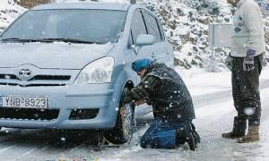 Κακοκαιρία: Με αλυσίδες η κίνηση στο ορεινό επαρχιακό δίκτυο Αχαΐας - Αιτωλοακαρνανίας