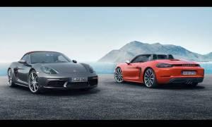 Η Porsche Boxster έγινε 718 Boxster κατέβηκε στα 2.000 κυβικά και ανέβηκε στα 300 άλογα