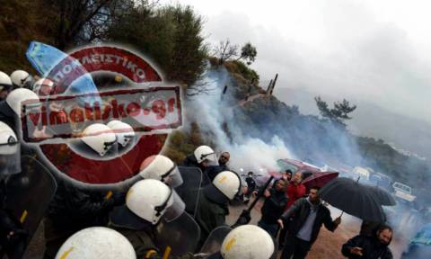 Clashes between police and Kos residents over construction of hotspot