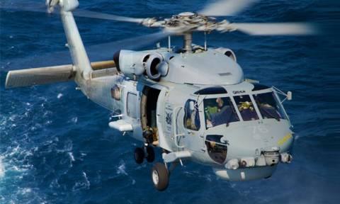 Χάθηκε το στίγμα ελικοπτέρου του Πολεμικού Ναυτικού