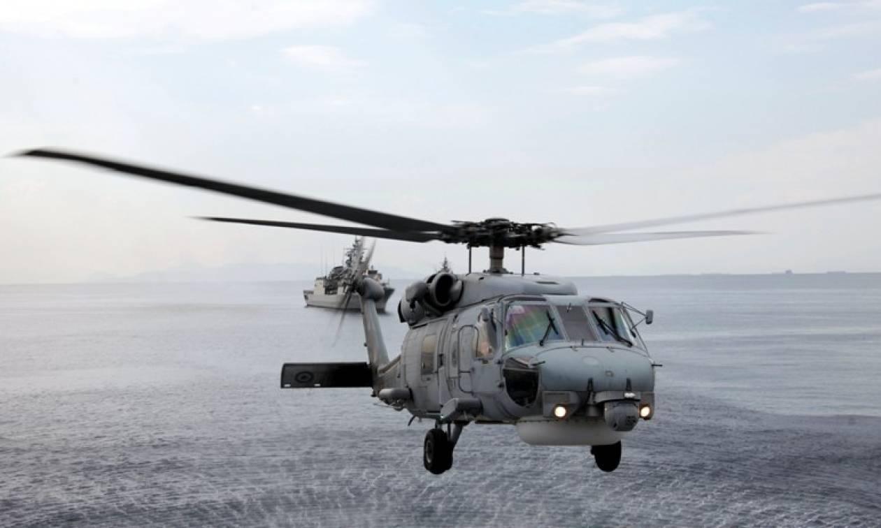 Τραγωδία στο Αιγαίο με πτώση ελικοπτέρου του Πολεμικού Ναυτικού
