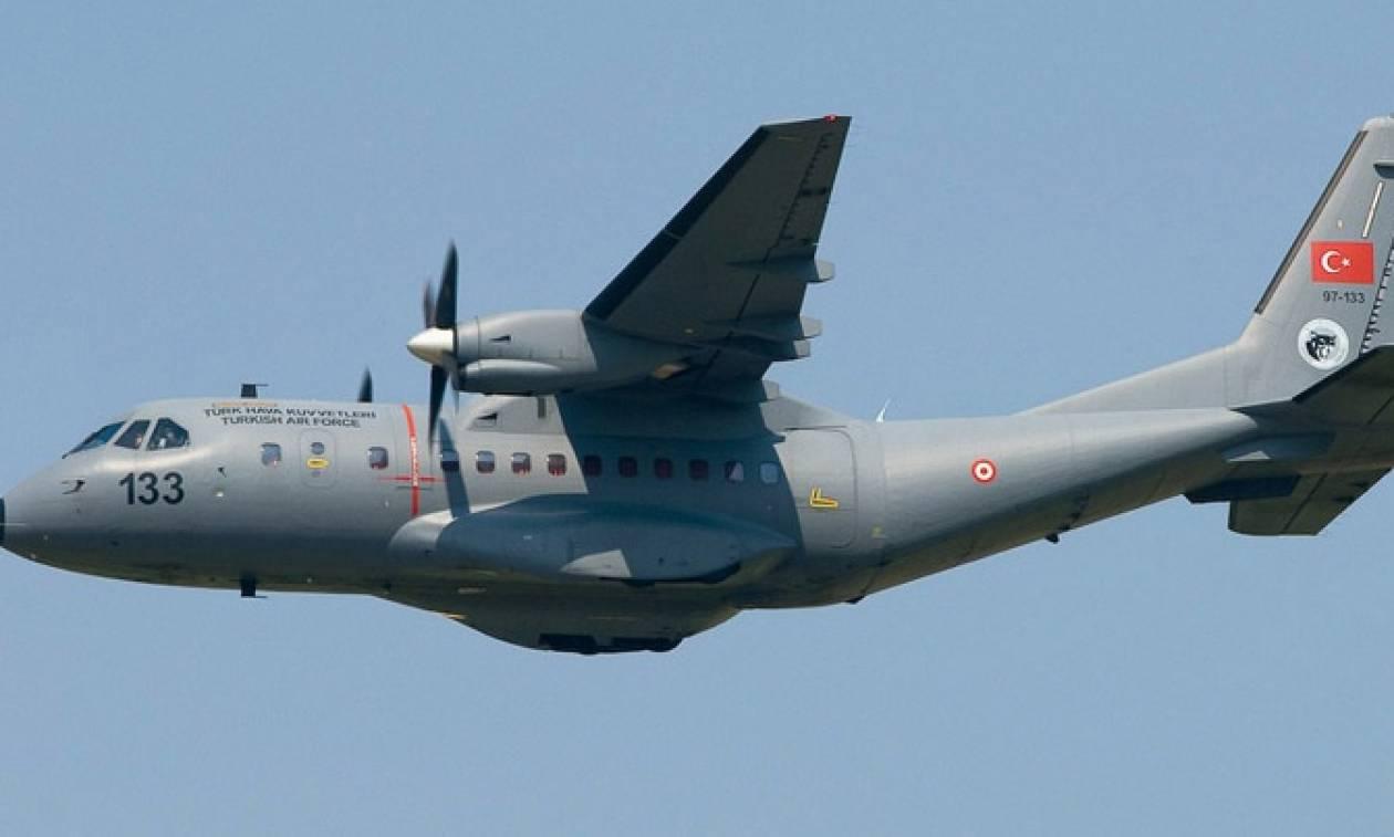 Νέα πρόκληση - Τουρκικό αεροσκάφος CN -235 πέταξε απόψε πάνω από το Κουνελονήσι