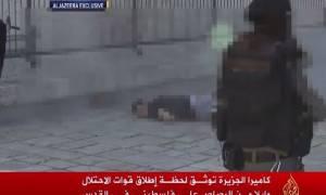Παλαιστίνιος πέφτει νεκρός από πυρά Ισραηλινών μπροστά στις κάμερες (vid)