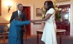 Σούπερ γιαγιά 106 ετών… χόρεψε τους Ομπάμα! (vid)