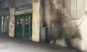 Εξάρχεια: Mολότοφ στα γραφεία του ΠΑΣΟΚ