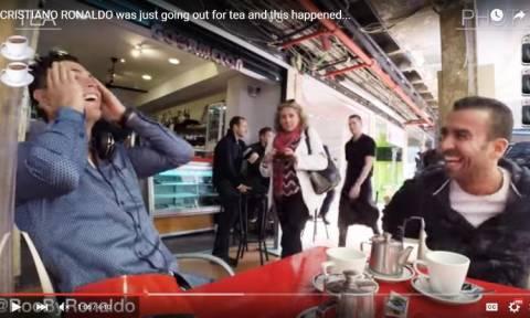 Ο Κριστιάν Ρονάλντο δε μπορεί να πιει έναν καφέ όπως όλοι μας κι αυτό το βίντεο το αποδεικνύει
