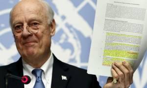 ΟΗΕ: Στις 9 Απριλίου αναμένεται η επανέναρξη των ειρηνευτικών διαπραγματεύσεων για τη Συρία